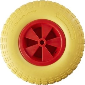 Grouw trillebørhjul t/ 80041030, 13'', gul