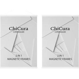 ChiCura 2 i 1 magnetramme 22 cm, Hvid