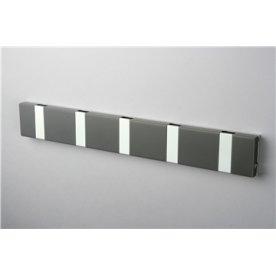 KNAX Lite 5 knagerække vandret, antracit/grå