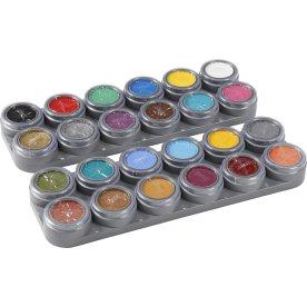 Grimas Ansigtmaling Sæt, 24x2,5 ml, ass. farver