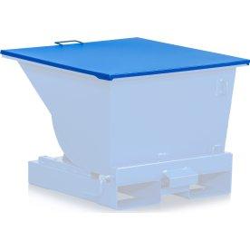 Fladt låg til 600 l tipcontainer, blå