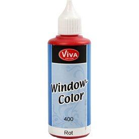Viva Decor Vinduesmaling, 80 ml, rød