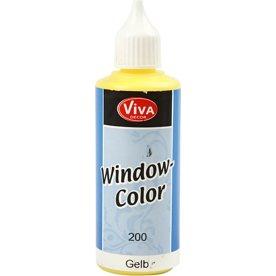 Viva Decor Vinduesmaling, 80 ml, gul