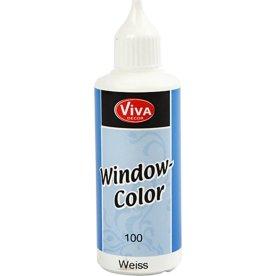 Viva Decor Vinduesmaling, 80 ml, hvid
