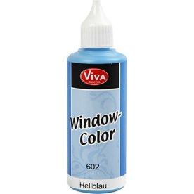 Viva Decor Vinduesmaling, 80 ml, lys blå