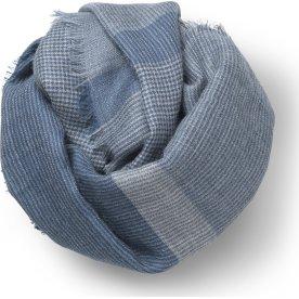 Elvang Milan Tørklæde, 120 x 120 cm, blå