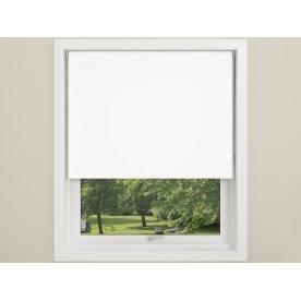 Debel Uni Ensfarvet Rullegardin, 120x175 cm, Hvid