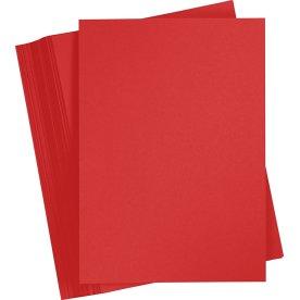 Karton Play Cut A4, 180g, A4, 100ark, julerød