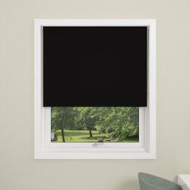 Debel Uni Ensfarvet Rullegardin, 150x175 cm, Sort
