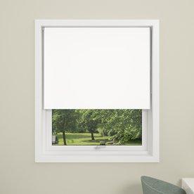 Debel Uni Rullegardin, Mørkl, 130x175 cm, Hvid