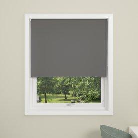 Debel Uni Rullegardin, Mørkl, 140x175 cm, Grå