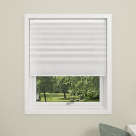 Debel Touch Plisségardin, Mørkl, 160x160 cm, Hvid