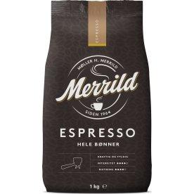 Merrild Espresso helbønner, 1000g