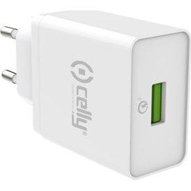 Celly Pro Power 18W Strømforsyningsadapter, hvid
