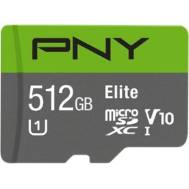 PNY MicroSDXC Elite 512GB Class 10 m/adapter