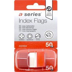 a-series Indexfaner Plast 12x44 mm, rød