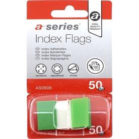 a-series Indexfaner Plast 12x44 mm, grøn