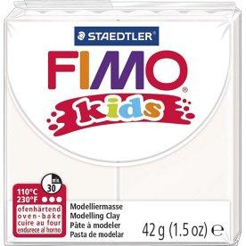 Fimo Kids Ler, 42 g, hvid