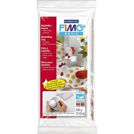 Fimo Air Basic Ler, 500 g, hvid