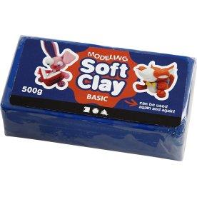 Soft Clay Modellervoks, 500 g, blå