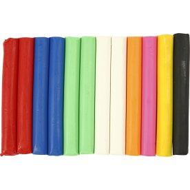 Soft Clay Modellervoks, 8x500 g, ass. farver