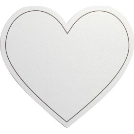 Happy Moments Hjerte Bordkort, 10 stk, hvid