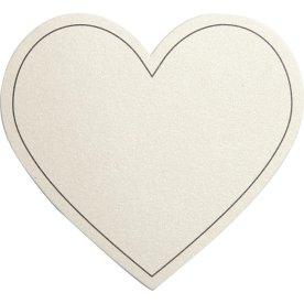 Happy Moments Hjerte Bordkort, 10 stk, råhvid