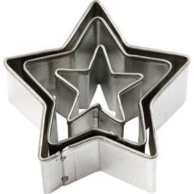 Maskin's Udstiksforme, stjerner, 3 stk