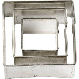 Maskin's Udstiksforme, firkanter, 3 stk