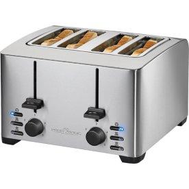 ProfiCook TA 1073 4-slice Toaster, stål