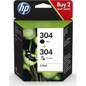 HP No 304 sort/farve blækpatroner, sampak