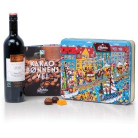 Sv. Michelsen gavekuffert - chokolade og vin