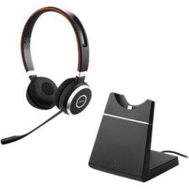 Jabra Evolve 65 MS Stereo headset med opladerstand