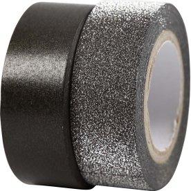 Vivi Gade Designtape 15 mm, 2 rl, sort