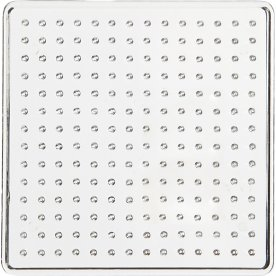 Perleplade, 7x7 cm, lille kvadrat