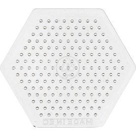 Perleplade, 7,5x7,5 cm, lille sekskant, 10 stk