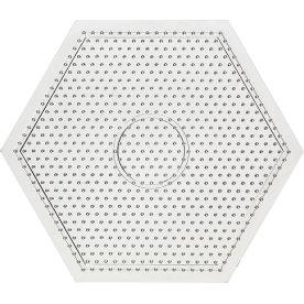Perleplade, 15x15 cm, stor sekskant
