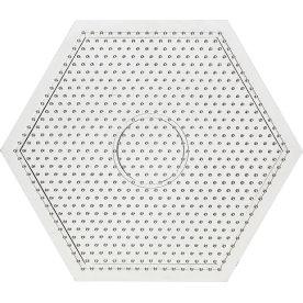 Perleplade, 15x15 cm, stor sekskant, 10 stk
