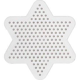 Perleplade, 10x10 cm, lille stjerne