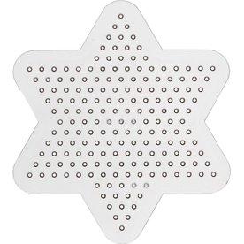 Perleplade, 10x10 cm, lille stjerne, 10 stk