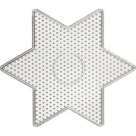 Perleplade, 15x15 cm, stor stjerne