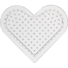 Perleplade, 8 cm, lille hjerte, 10 stk