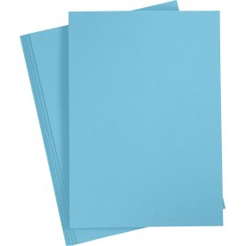 Paper Concept Karton, A4, 180g, 20 ark, klar blå