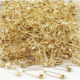 Sikkerhedsnåle, 22 mm guld, 500 stk