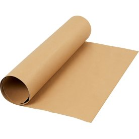 Læderpapir, 350g/m2, 50x100 cm, lys brun