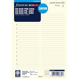 Filofax 2020 A5 Kalender Refill, dag/side
