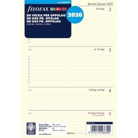 Filofax 2020 A5 Kalender Refill, uge/opslag