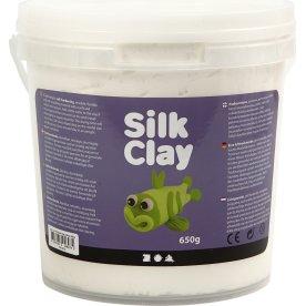 Silk Clay Modellervoks, 650 g, hvid
