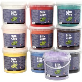 Silk Clay Modellervoks, 10x650 g, ass. farver