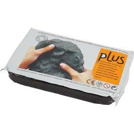 Plus Selvhærdende Ler, 1000 g, sort